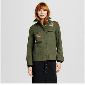 Who What Wear Army Green Utility Jacket, Size M